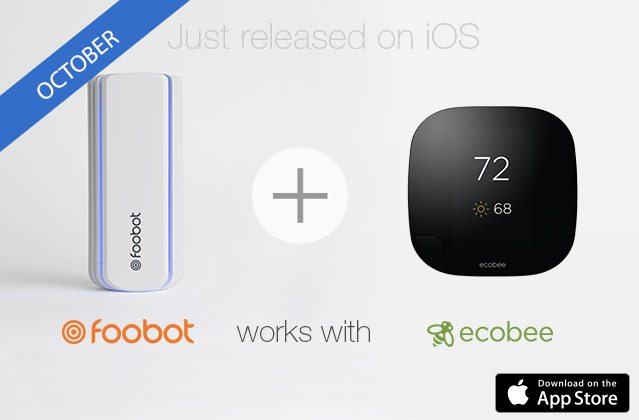 foobot works with ecobee thermostat - Smart automation